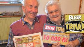 Marie (90) z České Lípy »utrhla« v Trháku 10 tisíc:  Za výhru kočárek pro pravnouče!
