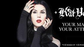 4 make - up hvězdy slavné Kat Von D!