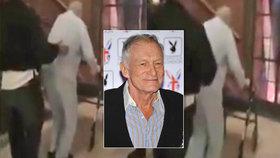 Smutné video zachycuje poslední měsíce Hugha Hefnera (†91): Otec Playboye ušel stěží krok!