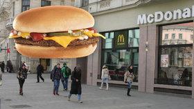 """McDonald's zdražil cheeseburger. """"To ho smaží na másle?"""" diví se Češi"""