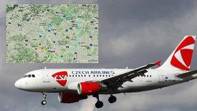 Let ČSA z Prahy do Moskvy se musel otočit. Kvůli podezření na závadu