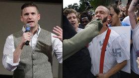 """""""Jdi domů, nacisto."""" Zastánce nadřazenosti bílé rasy hnali z univerzity"""