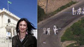 Maltskou novinářku zabila česká trhavina: 25 milionů za informace o vrazích