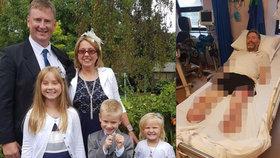 Otec tří dětí myslel, že má chřipku: V nemocnici mu amputovali nohy a ruku
