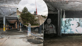 Poničené prostory pod kyvadlem na Letné ožijí.  Do podzemí na výstavu!