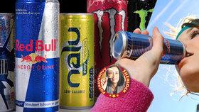 Test energetických drinků: Neplaťte za značku, »nakopnou« vás stejně