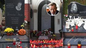 Co prozradily hroby slavných o Dušičkách: Záře, andělé i srdce z lásky