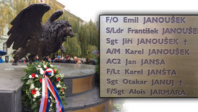 Pieta na Klárově: Památník Okřídleného lva zdobí 2 507 jmen Čechoslováků RAF