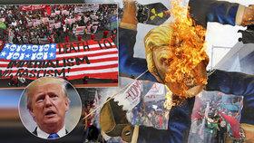 """Pálili vlajky a """"fašistu"""" Trumpa. S prezidentem USA se v Asii rozloučili bouřlivě"""