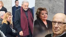 Pohřeb zpěváka Karla Štědrého (†80): Rozrušený Gott a plačící Bohdalka!