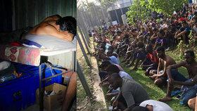 Uprchlíci jsou na ostrově Manus bez vody a bojí se cholery. Situace je kritická