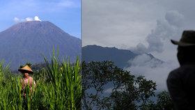 Probuzená sopka na Bali hrozí opět erupcí. Tisíce lidí prchají z dovolenkového ráje