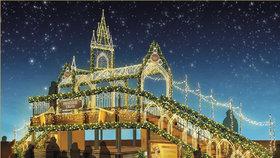 Vánoční trhy na Staromáku: Zazáří barvami, dominantou bude vyhlídkový most