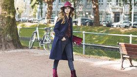 Zapomeňte na černou obuv: Inspirace, jak nosit barevné boty v zimě