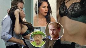Tohle se královně nebude líbit! Sexy dovádění snoubenky Harryho v seriálu