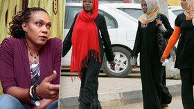 Muslimky oblékly kalhoty. Za nemravné chování jim hrozily rány holí