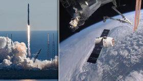 """2,5 tuny zásob. Kosmonautům na vesmírné stanici přistál předčasný """"Ježíšek"""""""