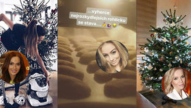 Vánoční přípravy celebrit: Ridi s milenkou na horách, dojatá Štíbrová a kdo pekl dvakrát?