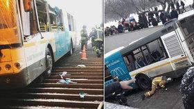 Autobus v Moskvě sjel do podchodu pro pěší: Zemřeli nejméně 4 lidé, 9 je zraněných