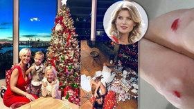 Jak slavní slavili Vánoce? Belohorcová zahlcena dary, Lutovská s rozbitými koleny a Farna s partou