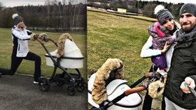 Mašlíková čtyři měsíce po porodu: Už trápí tělo cvičením venku