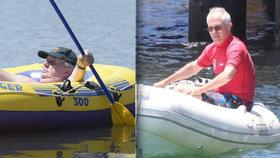 Premiér dostal za plavbu ve člunu bez vesty tučnou pokutu. A co Zeman?