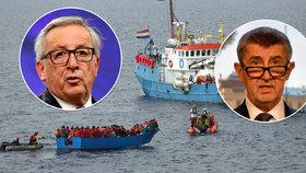 Česko žalují kvůli kvótám. Babišovi to nepřipadá normální a povečeří s Junckerem