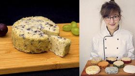 Veganský hermelín v Česku chyběl, tak ho Alexandra (22) sama vytvořila. Najít správný recept trvalo rok