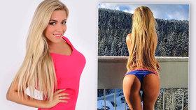 Česká Barbie Dominika Myslivcová: Na horách špulila odhalený zadek a mrzla!