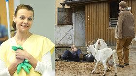 Nechutné natáčení Ordinace: Martina Randová alias Heluš se válela v močůvce!