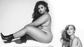 Proslavily ji fotky v pózách slavné modelky. Přesto, že má břicho i zadek!
