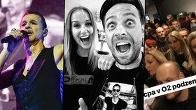 Koncert Depeche Mode plný hvězd: Vojtek si zpíval, Decastelo se mačkala v davu!