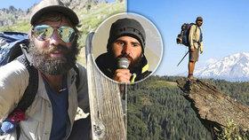 """Ušel 4268 km dlouhou Pacifickou hřebenovku. """"Věděl jsem, že hlava půjde až do konce,"""" říká Tomáš (31)"""