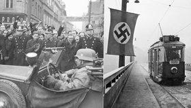 """Před 80 lety v ulicích Prahy zavlály vlajky s hákovým křížem: Nacistické vojsko připomínalo """"plechový cirkus"""""""