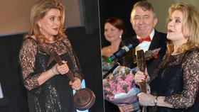 Oceněná Catherine Deneuve na Febiofestu: Kristián je největší cenou, kterou má ve sbírce!