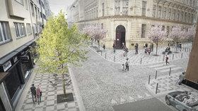 Lavičky, stromy, moderní vzhled: Takhle bude vypadat ulice Františka Křížka na Letné