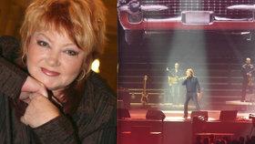 Za Věru Špinarovou dokončili po roce koncert kolegové: Na zpěvačku vzpomínal Nohavica i Rottrová