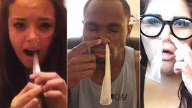 Nová šílená výzva: Děti vdechují kondom nosem a vytahují pusou! Může to skončit tragicky!