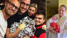 Superrychlý porod čtyřnásobné mámy z Pardubic: Viktorku porodila v obýváku! Záchranka přijet nestihla