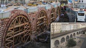Negrelliho viadukt fascinuje Pražany! Opravy jsou ve čtvrtině, městu se po 170 letech ukazuje nahý