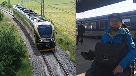 Vozíčkář Tomáš testoval cestování vlakem: Bojoval s úzkými uličkami i záchodem. Jaký dopravce obstál?