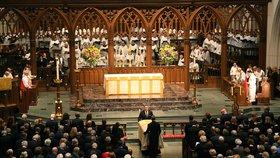 Na pohřeb Bushové dorazili čtyři bývalí prezidenti USA, Trump se neukázal