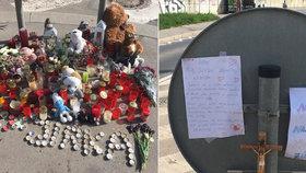 """Pomník za zmařený život malého Jirky (†13): """"Milujem tě,"""" napsali mu spolužáci"""