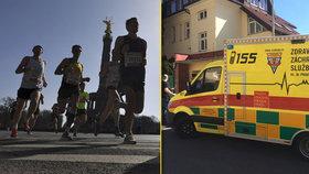 Slunce a vyčerpání udělalo své. 12 běžců pražského maratonu skončilo v nemocnici
