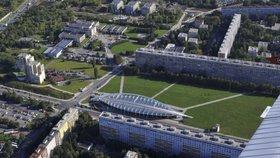 Výstavba parkoviště u parku Přátelství finišuje. 260 míst pro auta bude hotových v únoru