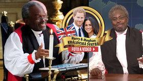 Koukali na mě jako na prd ve výtahu! Černý kněz z královské svatby se dočkal parodie