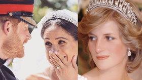 Diana na svatbě nechyběla! Takto Harry a Meghan uctili její památku