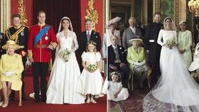 Co prozradily fotky ze svatby? Škrobená Kate versus uvolněná Meghan!