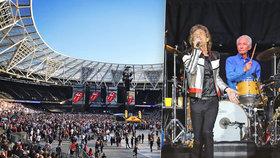 Poloprázdný koncert Rolling Stones v Londýně! Diváky znechutila přísná kontrola