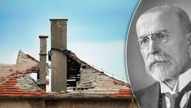 V Čejkovicích se zbortila střecha domku, kde žil Masaryk. Je v něm muzeum
